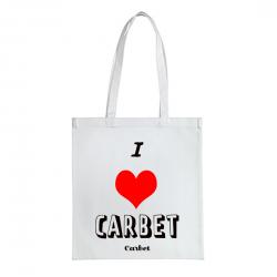 Tote Bag I love carbet